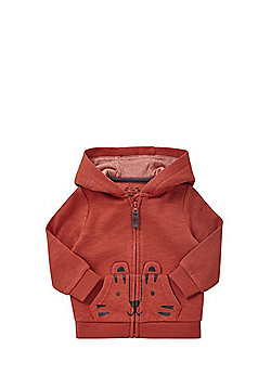 F&F Tiger Pocket Zip-Through Hoodie - Orange