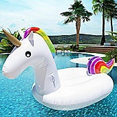 Giant Inflatable Unicorn Pool Float Swimming Pool Lounger Bed for Adults & Kids
