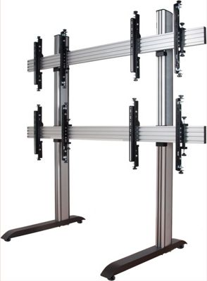 B-Tech System X Video Wall Mount with MicroAdjust Arms - 2x2 For 46 inch TVs