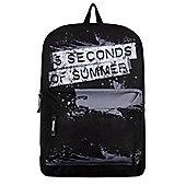 5 Seconds Of Summer RockSax Splatter Logo Black Backpack 32x42x11cm