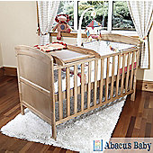 Baby Penelope Cot Bed Pine & Pocket Sprung Mattress/Quilted Topper/Changer
