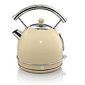 Swan Retro 1.7 Litre Dome Kettle - Cream