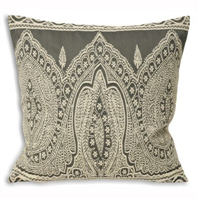 Riva Home Paisley Grey Cushion Cover - 50x50cm