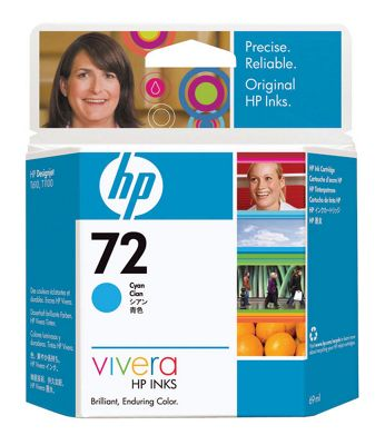 HP 72 Ink Cartridge - Cyan