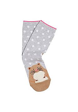 F&F Intarsia Hamster Ankle Socks - Multi