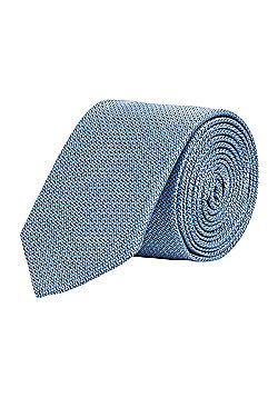 F&F Textured Slim Tie - Blue