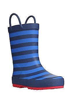 F&F Striped Wellies - Blue