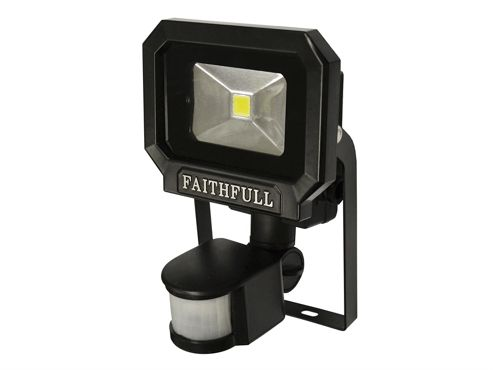 Faithfull COB LED Security Light with PIR 10 Watt 240 Volt