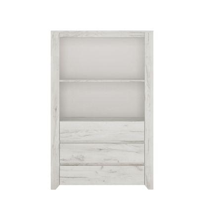 Angel 3 Drawer Cupboard with Open Shelf