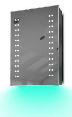 Demist Cabinet With LED Under Lighting, Sensor & Internal Shaver Socket k346t