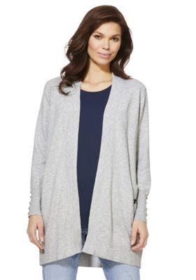Wallis Petite Open Front Wool Cardigan Grey M