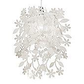 Floral Ceiling Light Pendant Shade, White