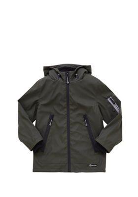 F&F Rubberised Fleece Lined Shower Resistant Mac 7-8 years Khaki