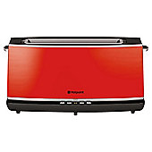 Hotpoint Extra Long & Extra Wide 2 Slice Toaster - Red