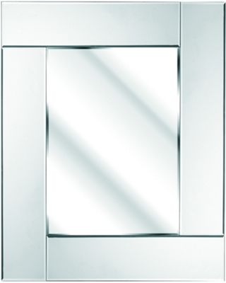 D & J Simons Art Deco Rectangle Mirror - White