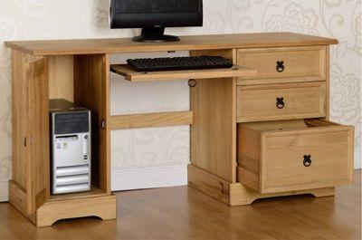 Valufurniture Corona Distressed Waxed Pine Computer Desk