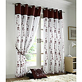 Alan Symonds Tahiti Eyelet Curtains - Claret