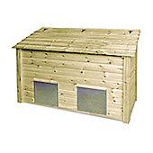 Ridlington wooden double coal bunker