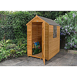 Forest Garden Overlap Dip Treated 6x4 Apex Shed