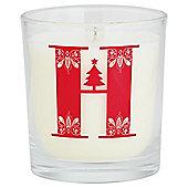 Tesco Alphabet Christmas Filled Candle Jar H