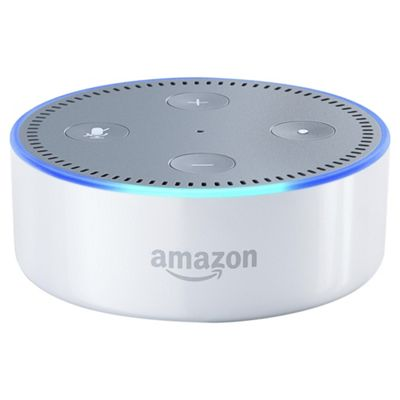 buy amazon echo dot portable bluetooth speaker white. Black Bedroom Furniture Sets. Home Design Ideas