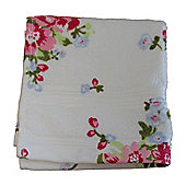Homescapes Floral Printed White Face Cloth 100% Cotton