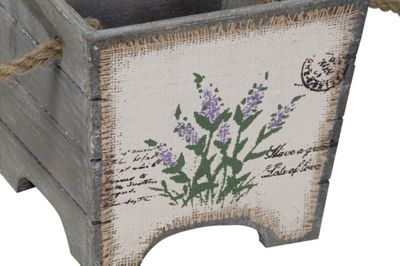 Lavender on Hessian and Wooden Housekeeper