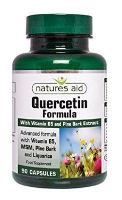 Natures Aid Quercetin Formula with Vitamin B5 & MSM - 90 Capsules