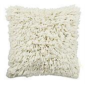 Shaggy Twist Cushion - Cream