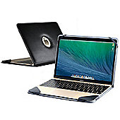 Navitech Black Leather Case Cover for the Apple Macbook 12 inch (fits all generations)