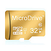 MicroSD HC Memory Card Plus SD Adapter Performance Up to 100MB/s, 32 GB, Class 10, U1 - Gold - R165388