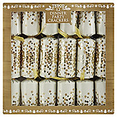 Gold Confetti Spot Dinner Party Christmas Crackers, 12 pack