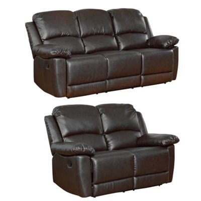 Sofa Collection Lucerne 3+2 Recliner Sofas - Black