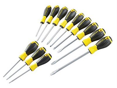 Stanley Tools STA060212 PH/SL/PZ/TX Essential Screwdriver - Yellow/Black (Set of 12)