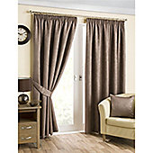 Hamilton McBride Belvedere Lined Pencil Pleat Curtains - Mink