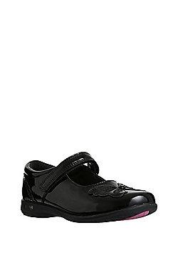 F&F Sensitive Sole Butterfly Light-Up School Shoes - Black
