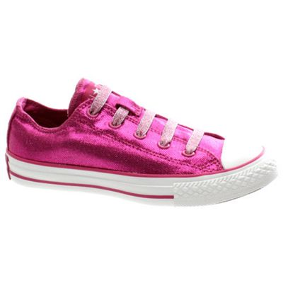 Converse Chuck Taylor Stretch Ox Raspberry/Rose Kids Shoe 630295