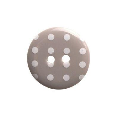 Hemline Grey Polka Dot Buttons 15mm 6pk