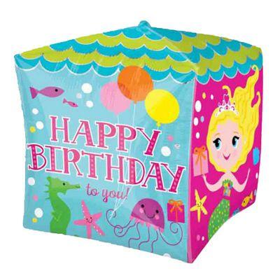 Cubez Birthday Mermaids Balloon - 24 inch Foil