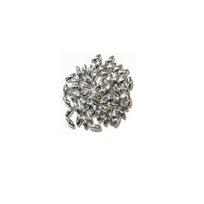 Craft Factory Oval Pearls 3mm x 6mm Silver