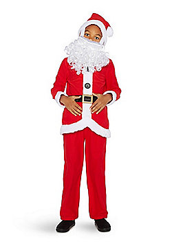F&F Santa Claus Fancy Dress Costume - Red