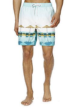 F&F Photographic Print Mid Length Swim Shorts - Green