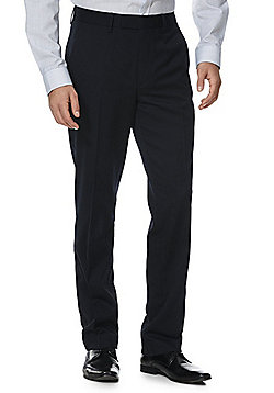 F&F Regular Fit Trousers - Navy