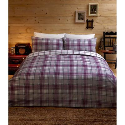 Dreams n Drapes Argyll Plum King Quilt Set