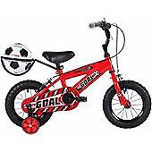"Bumper Goal 12"" Wheel Kids Bike Red Stabilisers"