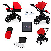 ickle bubba Stomp V2 AIO/Buggy Lights/Mosquito Net Travel System - Red (Black Chassis)