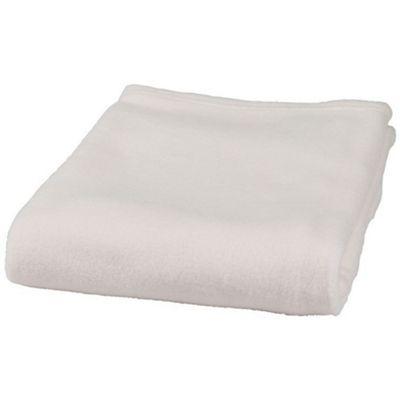 Clair de Lune Plain Fleece Cot/Cot Bed Blanket (Cream)