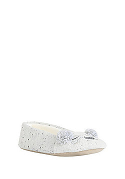 F&F Novelty Panda Ballerina Slippers - Grey