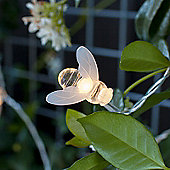20 Warm White LED Solar Bee Fairy Lights