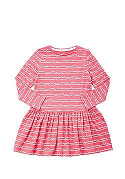 F&F Love Slogan Flared Dress - Pink